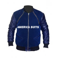 Blue Leather Jacket For Men