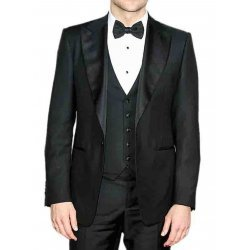 Bradley Cooper Black Three Piece Tuxedo Suit