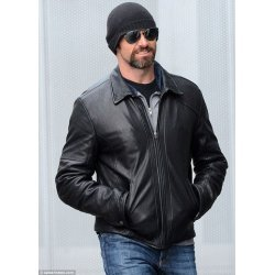 Hugh Jackman Hollywood Celebrity Leather Jacket