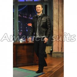 Justin Timberlake Hot Celebrity Leather Jacket For Men