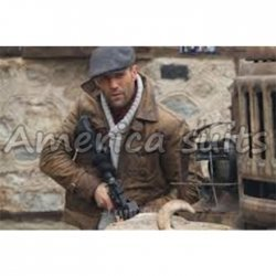The Expendables II Jason Statham Distressed Leather Jacket