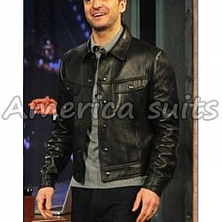 Justin Randall Timberelake Hollywood Celebrity Leather Jacket