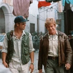 Robert Redford Brown Distressed Leather Jacket From The Spy Game