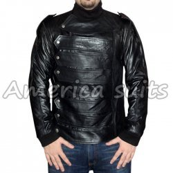 The Avengers Bucky Barnes Leather Jacket