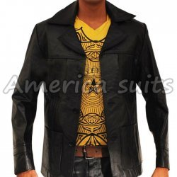 Life on Mars Classic Leather Jacket For Men