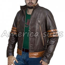 Wolverine Origins Logan Biker Leather Jacket