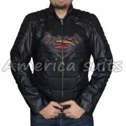 Superman Vs Batman 2 in 1 Logo Leather Jacket