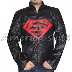 Superman Vs Batman Double Logo ILeather Jacket