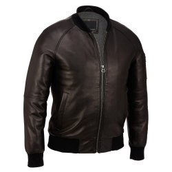 Contemporary Leather Varsity Bomber Jacket