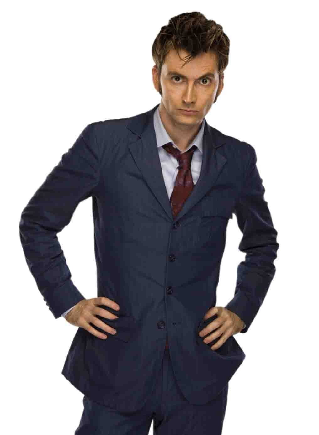 """DOCTOR WHO Torchwood 5/"""" David Tennent 10th Pinstripe suit with white shoes"""