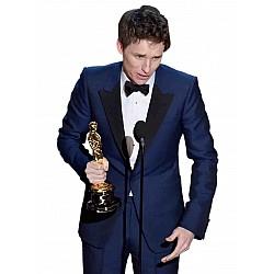 Eddie Redmayne Navy Tuxedo Oscar 2015