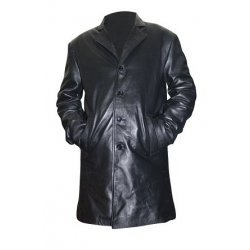 Joshua Jackson Peter Bishop Fringe Black Long Leather Coat