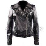 Keira Knightley Black leather Jacket