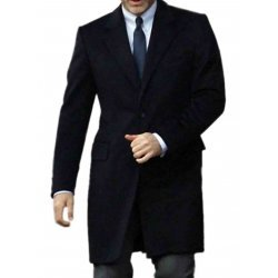 James Bond Navy Blue Overcoat Suit