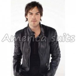Ian Somarhalder Vampire Diaries Leather Jacket