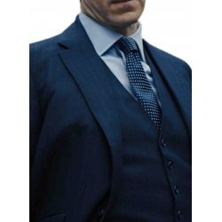 Skyfall Gareth Mallory Blue Pintstripe Suit