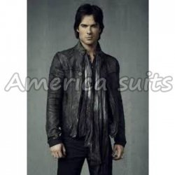 The Vampire Diaries Season 4 Leather Jacket For Men