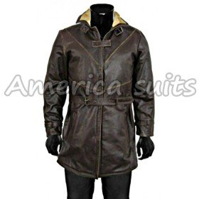 Aiden Pearce watch dog distressed Leather Jacket