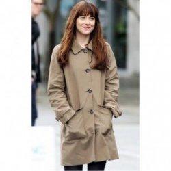 Anastasia Steele Brown Cotton Coat