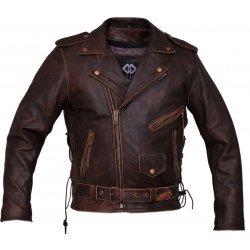 Antique Brown Biker Leather Jacket For Men