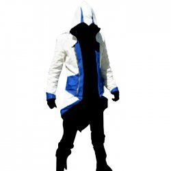 Assassin Creed Video Game Costume White and Blue