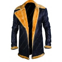 World War 2 Men's Flight Aviator Bomber Style Leather Jacket with Shearling