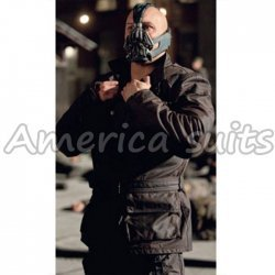 Bane Coat The Dark Knight Rises Black Long Coat