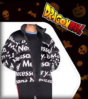 Goku Drip Black Puffer Jacket