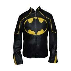 Batman Black And yellow  Motorbike Leather jacket
