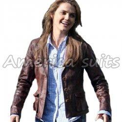 Keri Russel Bedtime Stories Leather jacket