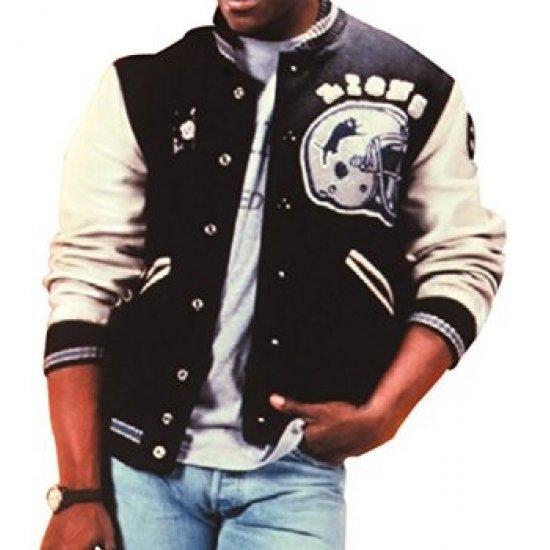 EDDIE MURPHY BEVERLY HILLS COP Axel Foley Detroit Lions Varsity Letterman Jacket