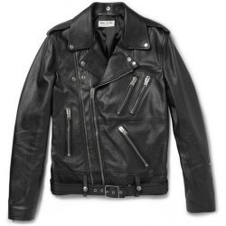 Black MotorBike Black Leather Jacket