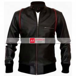 Black SlimFit Biker Style Leather Jacket