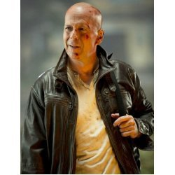 Hot sale Bruce Willis Die Hard Leather Jacket