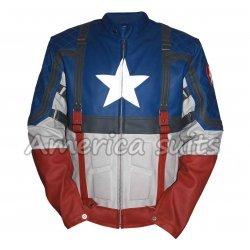 Captain America First Avenger Blue Leather jacket