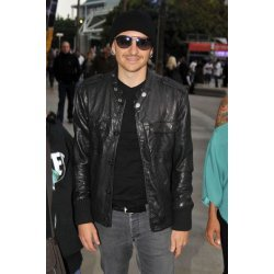 Chester Bennington Black Leather Jacket