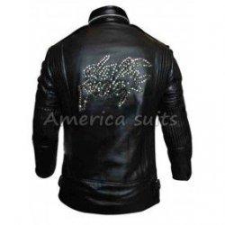 Daft Punk World Tour Black Leather Jacket