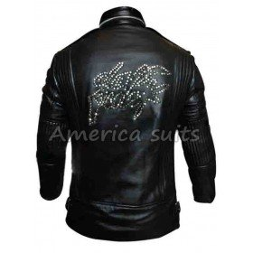 Daft Punk World Tour Black Leather Jacket