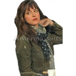 Fifty Shades Of Grey Dakota Johnson Green Jacket
