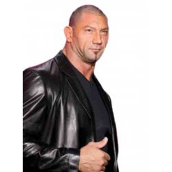 Dave Batista WWE Black Leather jacket