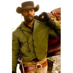 Django Unchained Jamie Foxx Green Cotton Jacket For Men