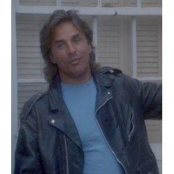 Don Johnson Miami Vice Black Leather Jacket