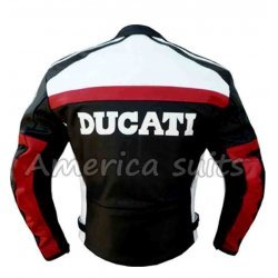 Ducati Black And White Racing Leather Jacket