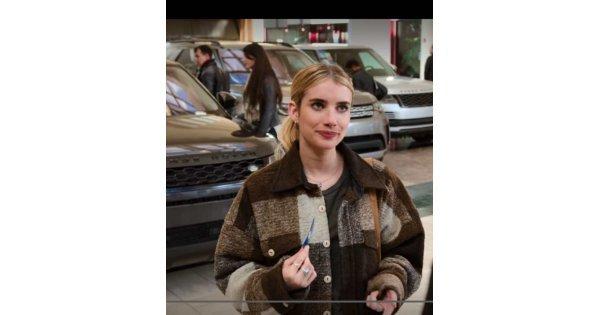 Emma Roberts Holidate Brown Coat