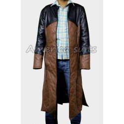 Farscape Officer Aeryn Sun Claudia  Black Leather Coat