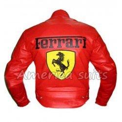 Ferarri Red Motorbike Racing Jacket