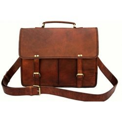 Handmade Twin Pocket Distresseed Leather Messanger Bag