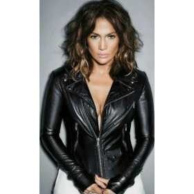 Jennifer Lopez Skin Tight Black Leather Jacket