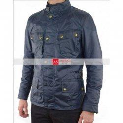 John Wick Chapter 2 Cassian Blue Cotton Jacket