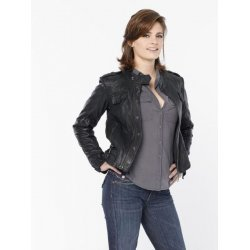 Kate Beckett Black Leather Jacket